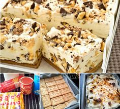 Chocolate Honeycomb Slice 4 Ingredients No Bake Cheesecake Recipes, Dessert Recipes, No Bake Slices, Mousse, Delicious Desserts, Yummy Food, Condensed Milk Recipes, Easy Sweets, Frozen Desserts