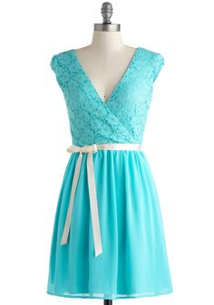 Champagne at Midnight Dress in Pale Sky. Public speaking is no problem for you, and as you rise to toast your BFF at her rehearsal dinner, youre bolstered by the buoyant feeling this truly elegant dress gives you! #blue #prom #modcloth