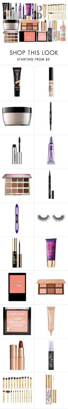 """""""Makeup"""" by kayy-14 ❤ liked on Polyvore featuring beauty, L'Oréal Paris, NYX, Kat Von D, Chanel, Urban Decay, tarte, Velour Lashes, Wet n Wild and Charlotte Tilbury"""