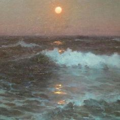 Moonlight (detail), 1902 oil on canvas Lionel Walden: pictures Aesthetic Photo, Aesthetic Pictures, Aesthetic Grunge, Color Composition, La Reverie, Reisen In Europa, Claude Monet, Pretty Pictures, Beach Pictures