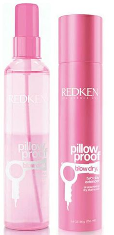 Redken Pillow Proof Blow Drying Spray and 2 Day Style extender.