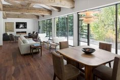 River House Remodel by S2 Architects with Louis Poulsen PH