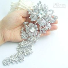 FOR BOUQUET Wholesale Flower Brooch - Buy 7.3 Gorgeous Bridal Flower Brooch Pin W Clear Rhinestone Crystals EE04704C1, $12.95   DHgate