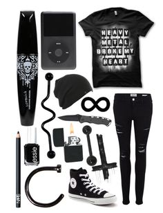 Designer Clothes, Shoes & Bags for Women Cute Emo Outfits, Bad Girl Outfits, Scene Outfits, Punk Outfits, Gothic Outfits, Teen Fashion Outfits, Casual Summer Outfits, Grunge Outfits, Look Fashion