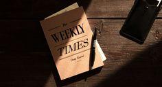 Weekly Times.#planner#diary#journal#week#classic#vintage#kraft#paper