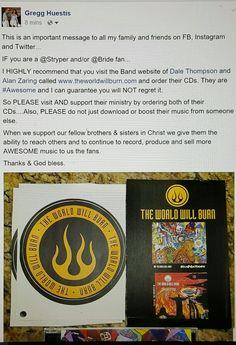 Love Christian Rock? Love @Stryper or @Bride visit www.theworldwillburn.com and purchase their Christian Rock CDs