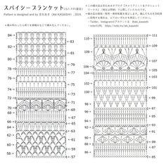 Free Pattern / スパイシーブランケット(Spice of Life Blanket )|笠石あき|note Scrap Crochet, Crochet Quilt Pattern, Crochet Shawl Diagram, Crochet Ripple Blanket, Crochet Motifs, Granny Square Crochet Pattern, Crochet Stitches Patterns, Crochet Chart, Diy Crochet