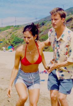 This is when Monica got bit by a jelly fish and Chandler had to pee on her foot.