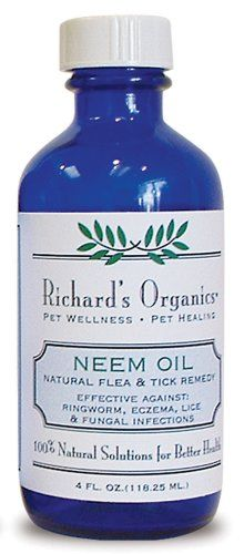 $7.53-$9.39 Neem Oil For dogs & cats. Natural flea & tick remedy also effective against wide range of insects as a repellent. Provides therapy for fungal infections, ringworm and eczema. Can be added to shampoos and conditioners or used as a spot-on treatment.