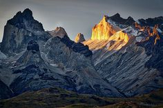 Cuernos Sunset Begins #3 - Patagonia by Stuart Litoff #Patagonia #Argentina #mountains #scenic
