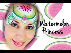 Face Painting Tutorials, Face Painting Designs, Painting Patterns, Princess Face Painting, Watermelon Face, Tropical Party, Body Art, Facial, Youtube
