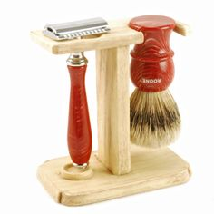 Hart Steel Straight/Safety Razor and Brush Stand