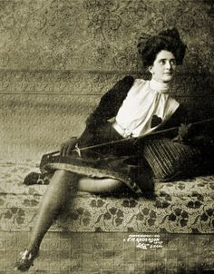 """""""Her eyes deadlier than her sword"""", 1903 (love the heart patch on her blouse). #vintage #Edwardian #classicism"""