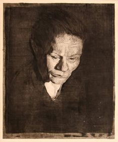 Käthe Kollwitz, etching, soft-ground, dry point