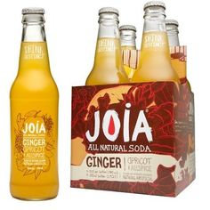 Joia All Natural Ginger Apricot Soda (6x4Pack)