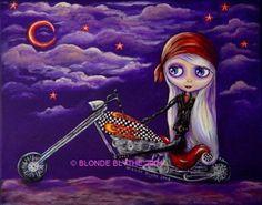 """""""Biker Blythe"""" © Blonde Blythe 2004"""
