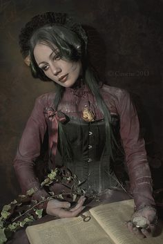 Memento Mori by Cunene - Deviant Art has a whole section of these modern day, live models who are pretending to be Victorian dead. Several people are including them in their collections as if they were real Victorian postmortem photos. Post Mortem Pictures, Post Mortem Photography, Live Model, Momento Mori, Gothic Rock, Before Us, Macabre, Victorian Era, Creepy