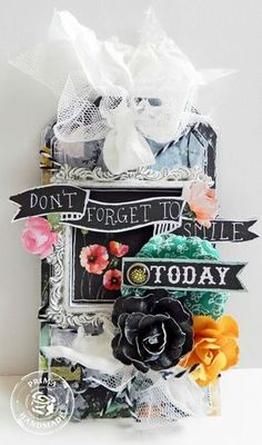 This beautiful tag by Erin Blegen used The Optimist collection from Prima.