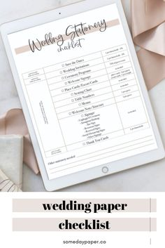 Everything you need to know about the different types of stationery needed for a wedding! Grab our free checklist now!
