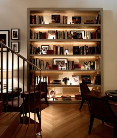 Koffmann's at the Berkley Home Library Design, Home Room Design, Home Office Design, Home Interior Design, Living Room Designs, Interior Decorating, House Design, Home Living Room, Living Room Decor