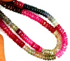 COLOURED SAPPHIRE FACETED BEAD STRAND 199 CTS PGB-9  MULTI COLOR SAPPHIRE GEMSTONE BEADS,WELL POLISHED GEMSTONE, BEADS FROM GEMROCKAUCTIONS