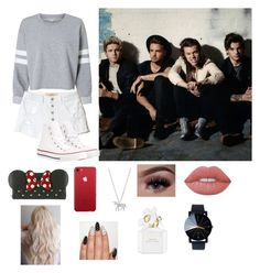 """""""7 Years of One Direction"""" by ch0nce1d on Polyvore featuring Hollister Co., Converse, Loungefly, Estella Bartlett, Lime Crime and Marc Jacobs"""