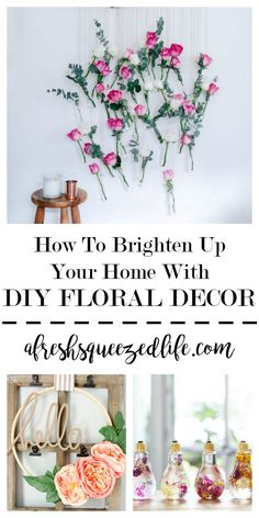One way to bring spring and summer into your home is with flowers.What a fun way to spruce up your bedroom or living room walls.Let's make DIY Floral Decor! DIY FLORAL DECOR
