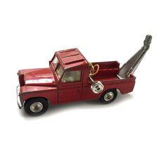 Vintage Corgi Toys Red Land Rover 109 W.B. Wrecker Model