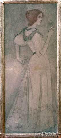 Józef Rippl-Rónai - Junge Frau mit Rose