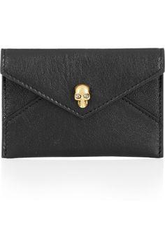PUH-LEASE! Alexander McQueen|Skull-embellished leather cardholder@netaporter