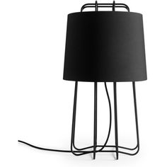 Blu Dot Perimeter Table Lamp (€275) ❤ liked on Polyvore featuring home, lighting, table lamps, black, colored lamps, black table lamps, black lights, colored lights and black lamp