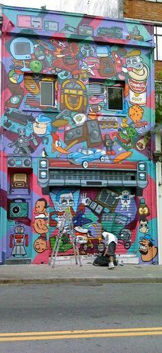 Arte de Rua - Dedicada a amiga Gaucha Silvia Schuman, São Paulo, Brazil #streetart #graffiti #Street art