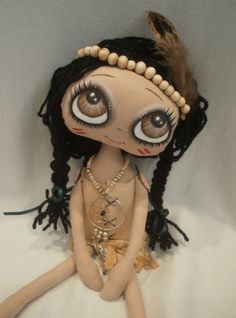 Nadie American Indian Cloth Art Rag Doll by lesleyjanedolls, £65.00
