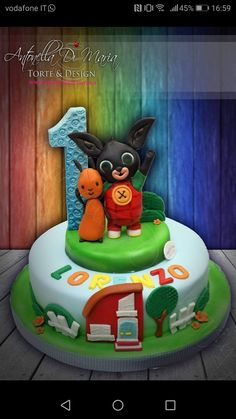 Bing Cake, 3rd Birthday, Birthday Parties, Bing Bunny, George Pig, Cupcakes, Marshmallow, Food And Drink, Desserts