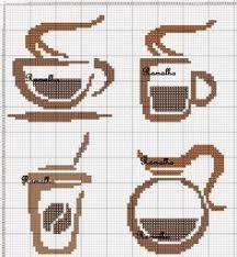 Resultado de imagem para esquemas de frisos de chavenas de café em ponto cruz