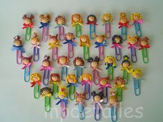 Paper clip - no link Cute Polymer Clay, Cute Clay, Polymer Clay Dolls, Polymer Clay Projects, Polymer Clay Charms, Polymer Clay Jewelry, Clay Crafts, Arts And Crafts, Clay Beads