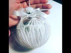 Bombka na szydełku nr 4 - crochet ball for christmas tree Crochet Christmas Ornaments, Christmas Crochet Patterns, Christmas Bulbs, Christmas Decorations, Holiday Decor, Crochet Ball, Christmas Makes, Hand Embroidery, Diy