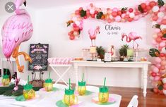 Flamingo Party styling by Willow & Duck for her daughter's first birthday. First Birthday Themes, Baby 1st Birthday, Birthday Celebration, First Birthdays, Birthday Parties, Birthday Ideas, Flamingo Baby Shower, Flamingo Party, First Birthday Chalkboard