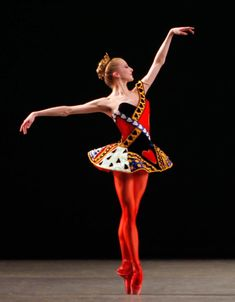 Sterling Hyltin in Jeu de Cartes.  New York City Ballet (Photo: Paul Kolnik)