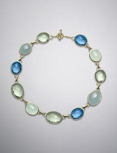 "David Yurman DY® Collection Oval Necklace, Hampton Blue Topaz, 18""L | DavidYurman.com  $35000"