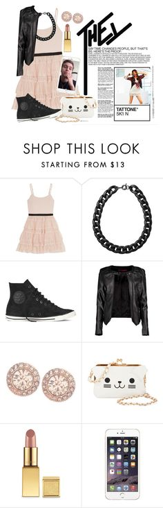 """""""Tattone."""" by haroldamore ❤ liked on Polyvore featuring Alice + Olivia, Monki, Converse, Boohoo, Givenchy, KLING, AERIN, women's clothing, women's fashion and women"""