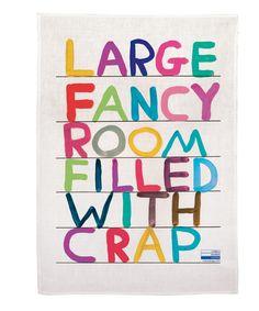 Fancy Room Tea Towel X David Shrigley