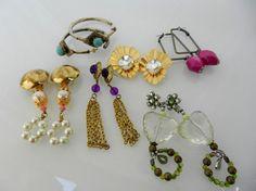 Lot earrings  vintage 1970 Italian  mix by VintageItalianJewel, $40.00