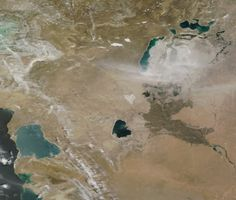 Effects of Desertification: Dust Storm Over Shrinking Aral Sea – May 22nd, 2012