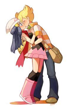 Pokemon dawn and barry kiss Pokemon Mew, Pokemon Comics, Gijinka Pokemon, Pokemon Ships, Pikachu, Pokemon Couples, Pokemon People, Anime Couples, Pokemon Special