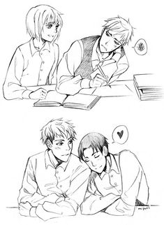 Jean Kirstein , Armin Arlert and Marco Bott ((i ship both armin and marco with jean so badly,, fuck,, jeanmarco is ruining my life tbh))