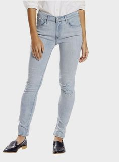 Levis Womens Skinny Jeans Mid Rise Distressed Light Blue Wash size 31 NEW #Levis #Skinny
