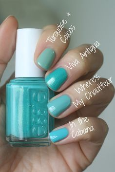 Something blue nail ideas for wedding day - nail polish ideas for bridal beauty - wedding nail polish - blue essie nail polish options for wedding {Essie Envy} Love Nails, How To Do Nails, Pretty Nails, Fun Nails, Glitter Nails, Colorful Nail Designs, Nail Art Designs, Essie Nail Colors, Manicure Y Pedicure