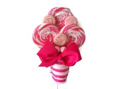 Lollipop Maid of Honor/Small Bouquet (Pink) *Design Patent Pending