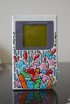 Gameboy Tetris /by OSKUNK! - The matching +Control Pad and A and B Buttons to the paint job is a perfect touch.